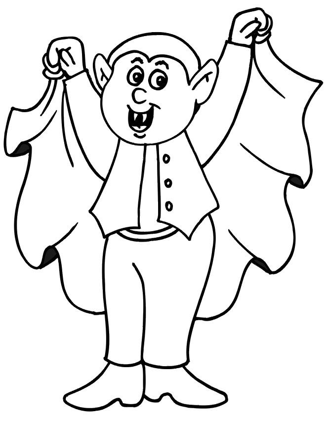Coloriage et dessins gratuits Jeune Vampire à imprimer