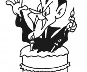 Coloriage L'anniversaire de Vampire