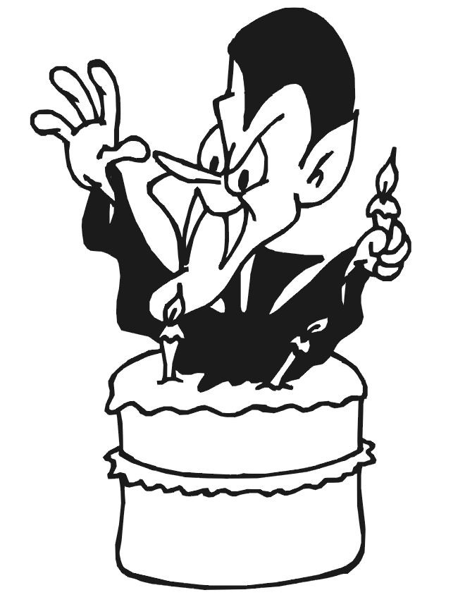 Coloriage et dessins gratuits L'anniversaire de Vampire à imprimer
