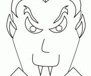 Coloriage Tête de Vampire
