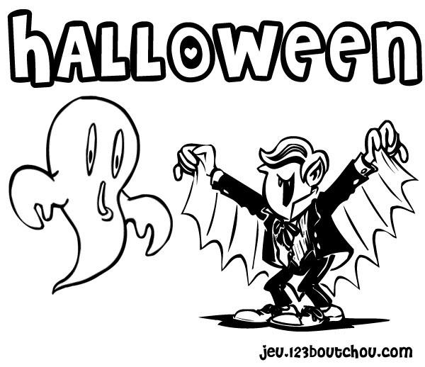 Coloriage et dessins gratuits Un vampire d'halloween à imprimer