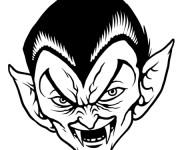 Coloriage Un Vampire très méchant dessin
