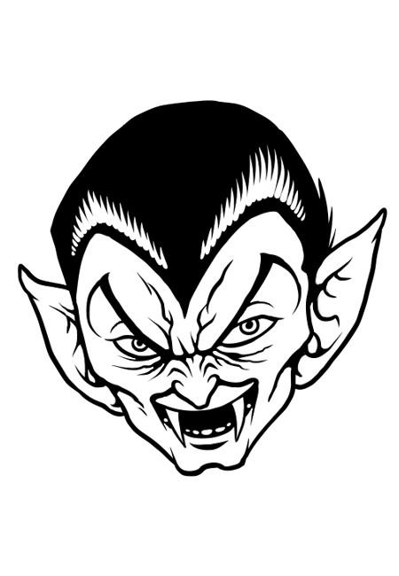 Coloriage un vampire tr s m chant dessin - Coloriage de vampire a imprimer ...