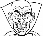 Coloriage Vampire avec le sourire diabolique