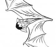 Coloriage et dessins gratuit Vampire chauve souris à imprimer