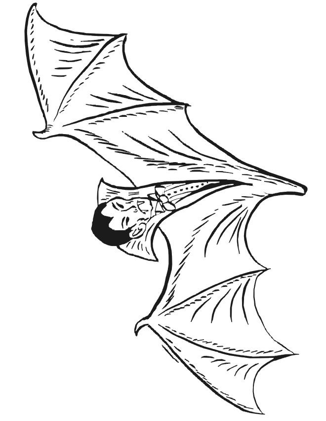 Coloriage et dessins gratuits Vampire chauve souris à imprimer