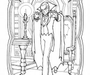 Coloriage Vampire dessin réaliste
