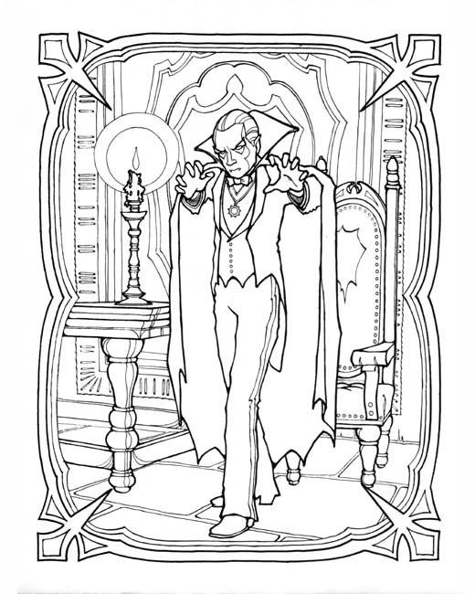 Coloriage et dessins gratuits Vampire dessin réaliste à imprimer