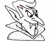 Coloriage et dessins gratuit Vampire Dracula à imprimer