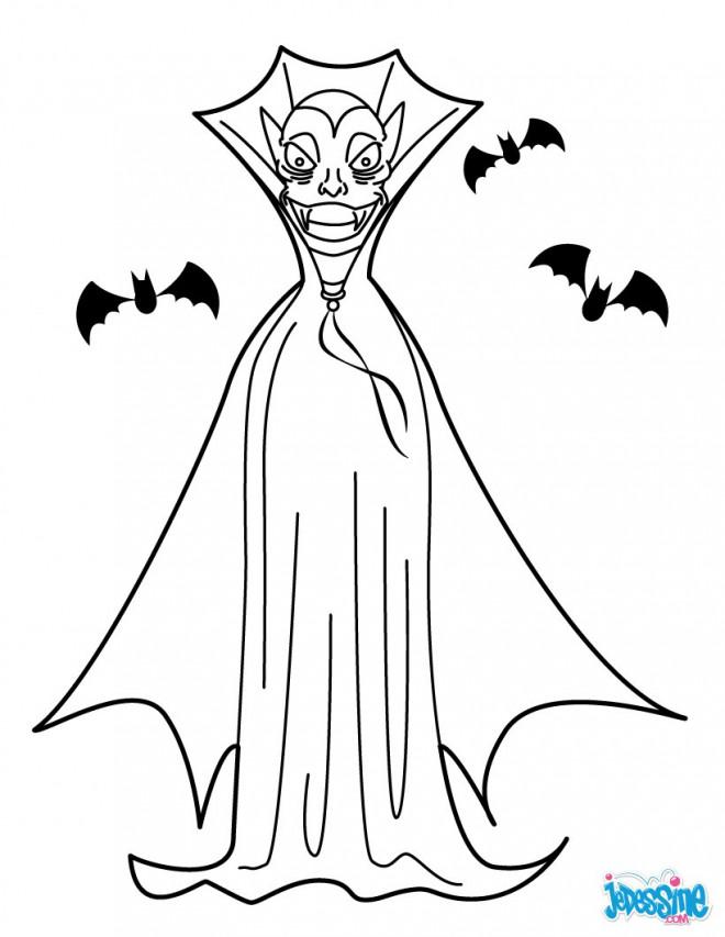 Coloriage et dessins gratuits Vampire en couleur à imprimer
