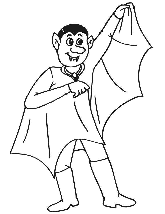 Coloriage et dessins gratuits Vampire en ligne à imprimer