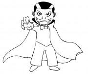 Coloriage et dessins gratuit Vampire enfant à imprimer