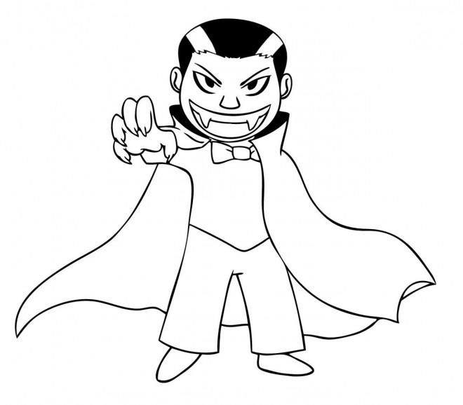 Coloriage vampire enfant dessin gratuit imprimer - Dessin vampire a colorier ...