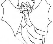 Coloriage et dessins gratuit Vampire fait peur à imprimer