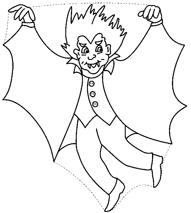 Coloriage et dessins gratuits Vampire fait peur à imprimer