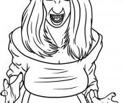 Coloriage Vampire fille