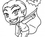 Coloriage et dessins gratuit Vampire garçon à imprimer