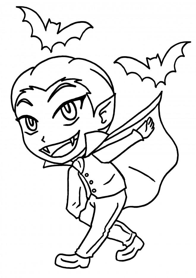 Coloriage et dessins gratuits Vampire garçon à imprimer
