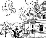 Coloriage Vampire Halloween dessin
