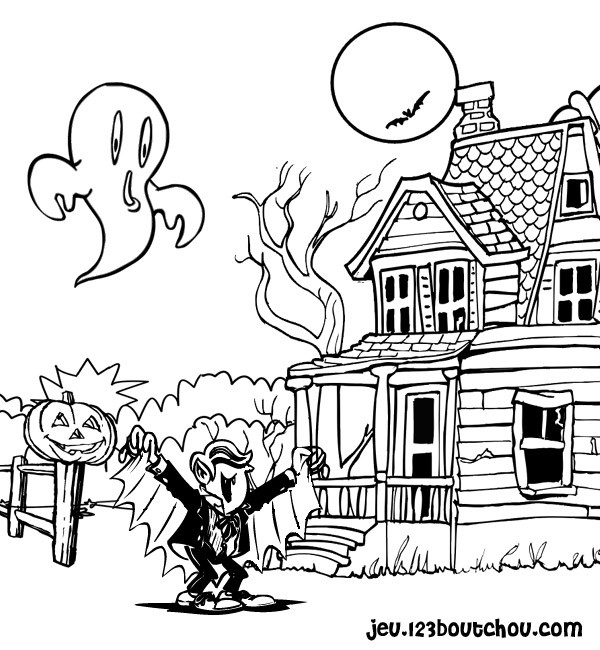 coloriage vampire halloween dessin dessin gratuit imprimer. Black Bedroom Furniture Sets. Home Design Ideas