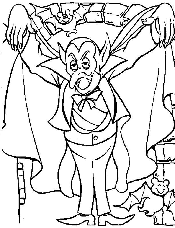 Coloriage et dessins gratuits Vampire image à imprimer