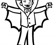 Coloriage Vampire levant ses bras