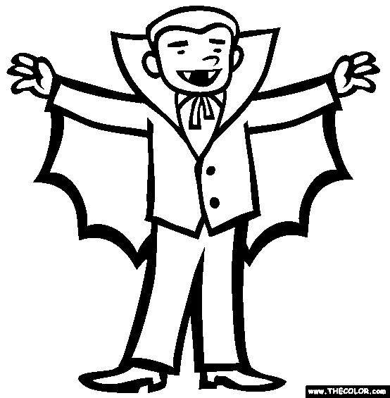 Coloriage et dessins gratuits Vampire levant ses bras à imprimer