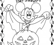Coloriage Vampire Mickey Mouse