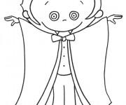 Coloriage et dessins gratuit Vampire pour enfant à imprimer
