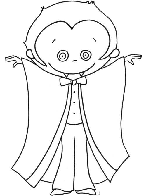 Coloriage et dessins gratuits Vampire pour enfant à imprimer