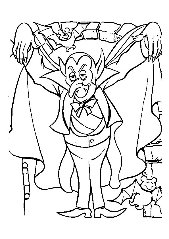 Coloriage et dessins gratuits Vampire qui fait peur à imprimer