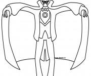 Coloriage Vampire qui fait très peur