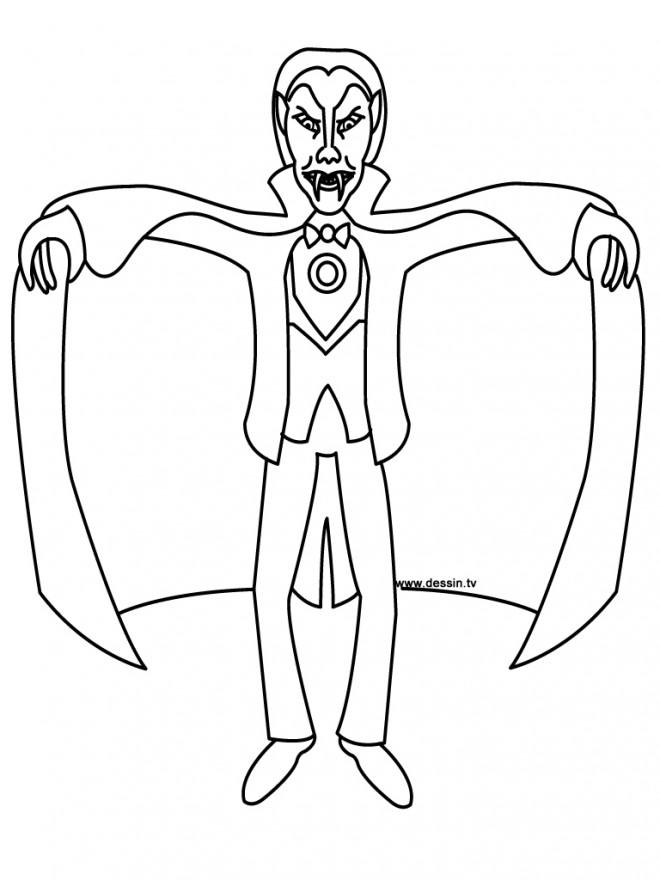 Coloriage et dessins gratuits Vampire qui fait très peur à imprimer