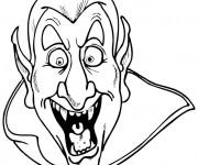 Coloriage Vampire riant