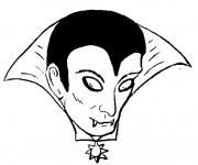 Coloriage Vampire visage