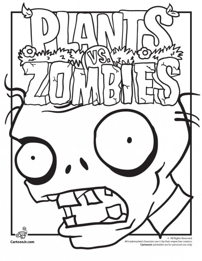 Coloriage Dessin Anime Plants Vs Zombies Couleur