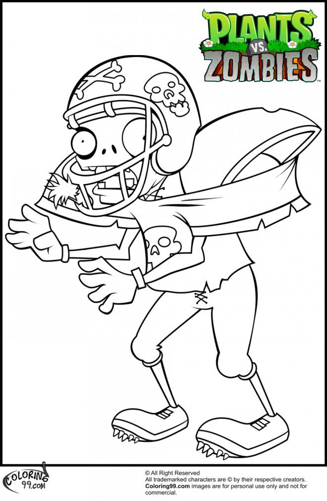 Coloriage et dessins gratuits Plants VS Zombies dessin animé à imprimer