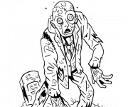 Coloriage dessin  Zombie 13