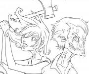 Coloriage dessin  Zombie 5