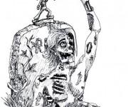 Coloriage dessin  Zombie 8