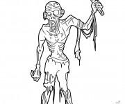 Coloriage Zombie à la hache