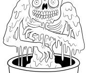 Coloriage et dessins gratuit Zombie adulte à imprimer