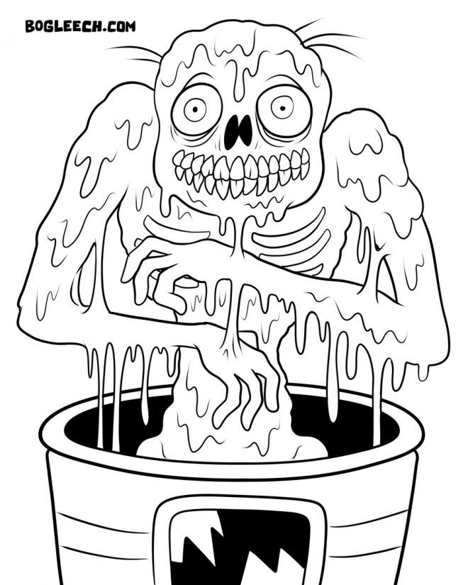 Coloriage et dessins gratuits Zombie adulte à imprimer