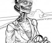 Coloriage et dessins gratuit Zombie amusante à imprimer