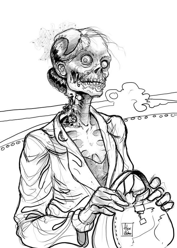 Coloriage et dessins gratuits Zombie amusante à imprimer