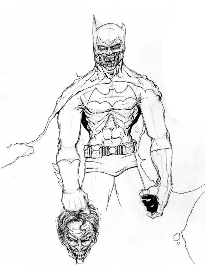 Coloriage et dessins gratuits Zombie Batman à imprimer