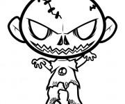 Coloriage Zombie bébé