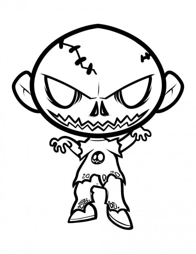 Coloriage et dessins gratuits Zombie bébé à imprimer