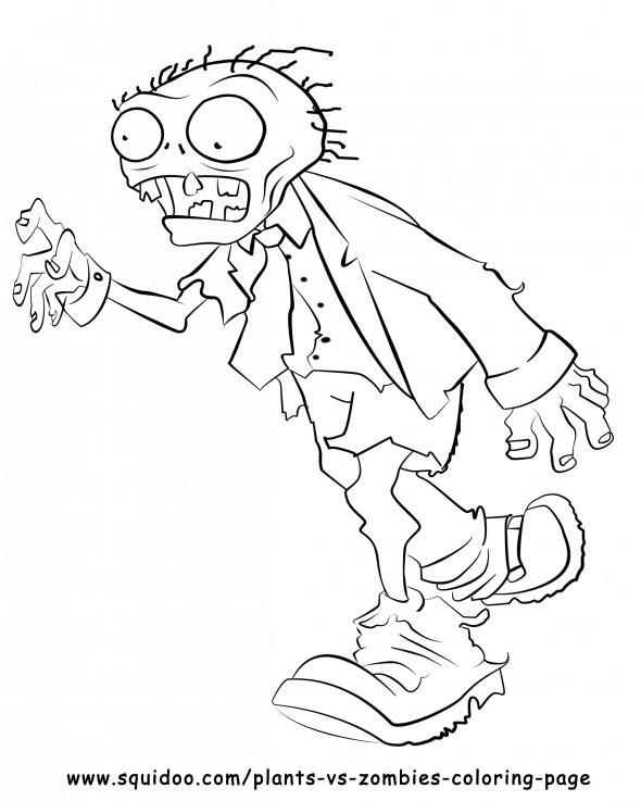 Coloriage et dessins gratuits Zombie costumé à imprimer