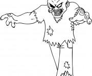 Coloriage Zombie dessin adulte